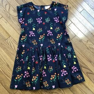 Hanna Andersson Girls Navy Floral Dress